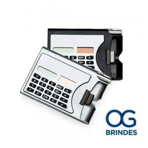 Calculadora com  Porta Cartão Personalizado