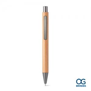 Caneta Esferográfica Bambu Personalizada - 81009