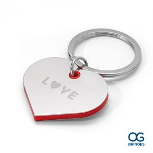 Chaveiro Metálico Coração Personalizado