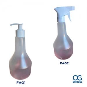Frasco Álcool em Gel Plástico 500ml Personalizado - FAG