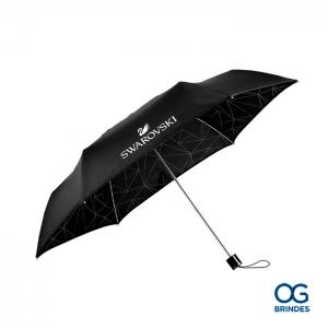 Guarda chuva Dobravel Swarovski Personalizado