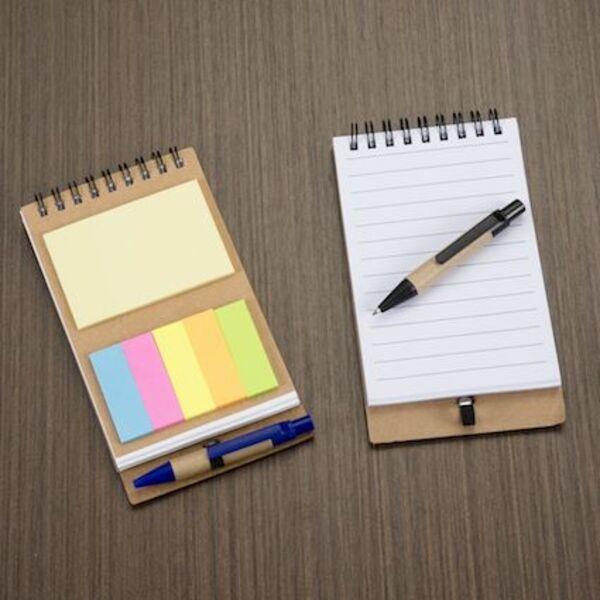 Bloco De Anotações Com Caneta E Post-It Personalizado