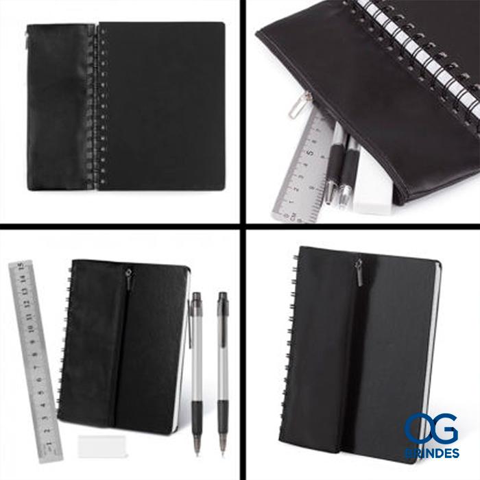 Caderno de Anotações com Estojo Personalizado