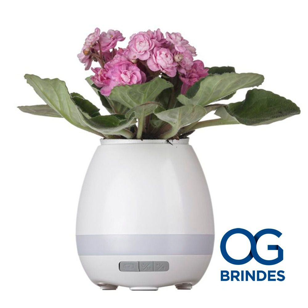 Caixa de Som Vaso com Sensor e Bluetooth Personalizada