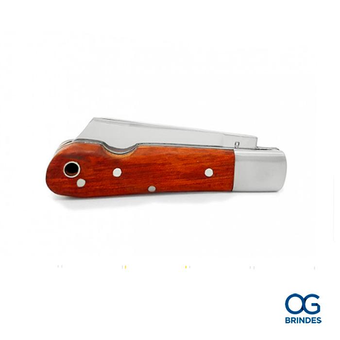 Canivete Cimo Inox e Madeira Personalizado