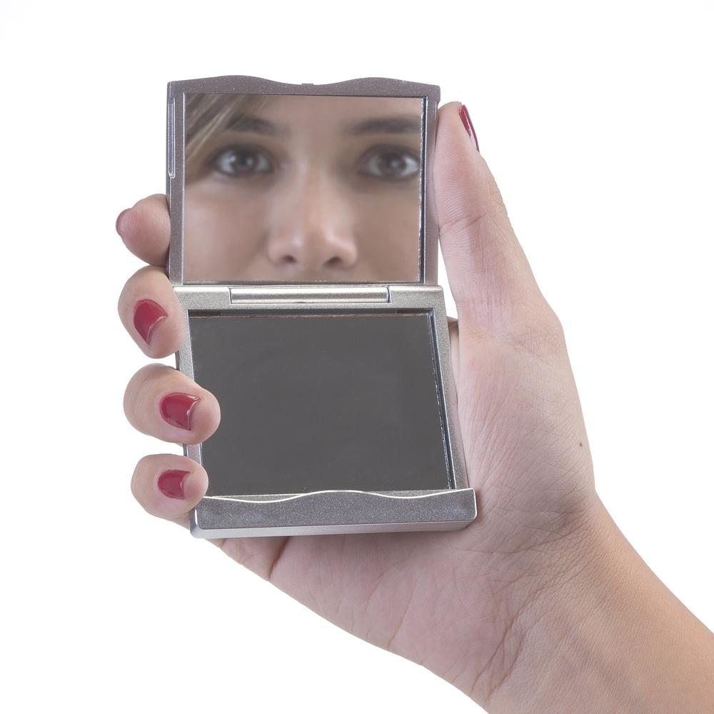 Espelho Duplo Retangular sem Aumento Personalizado