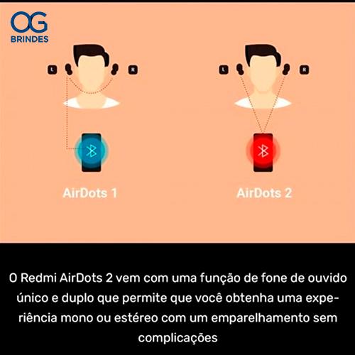 Fone De Ouvido Xiaomi Redmi Airdots Réplica Personalizado