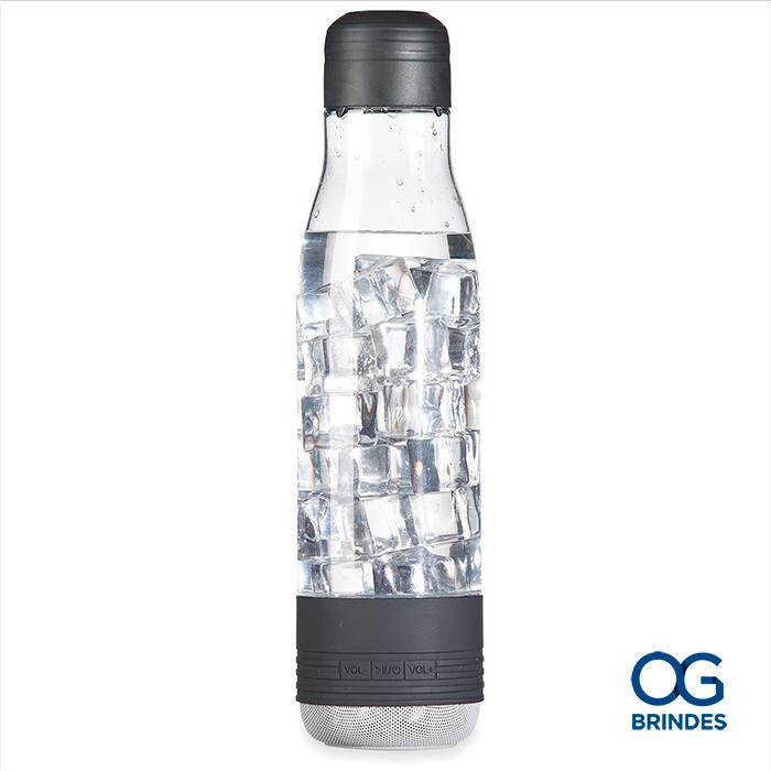 Garrafa com Speaker Bluetooth Personalizada