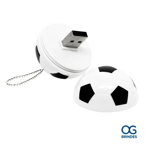 Pen Drive Formato Bola de Futebol 4GB Personalizado