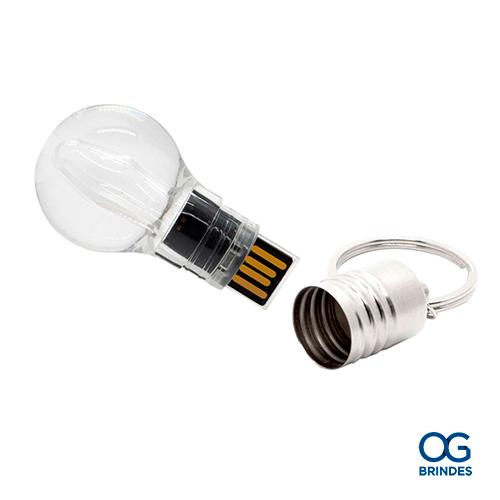 Pen Drive Formato Lâmpada Personalizado