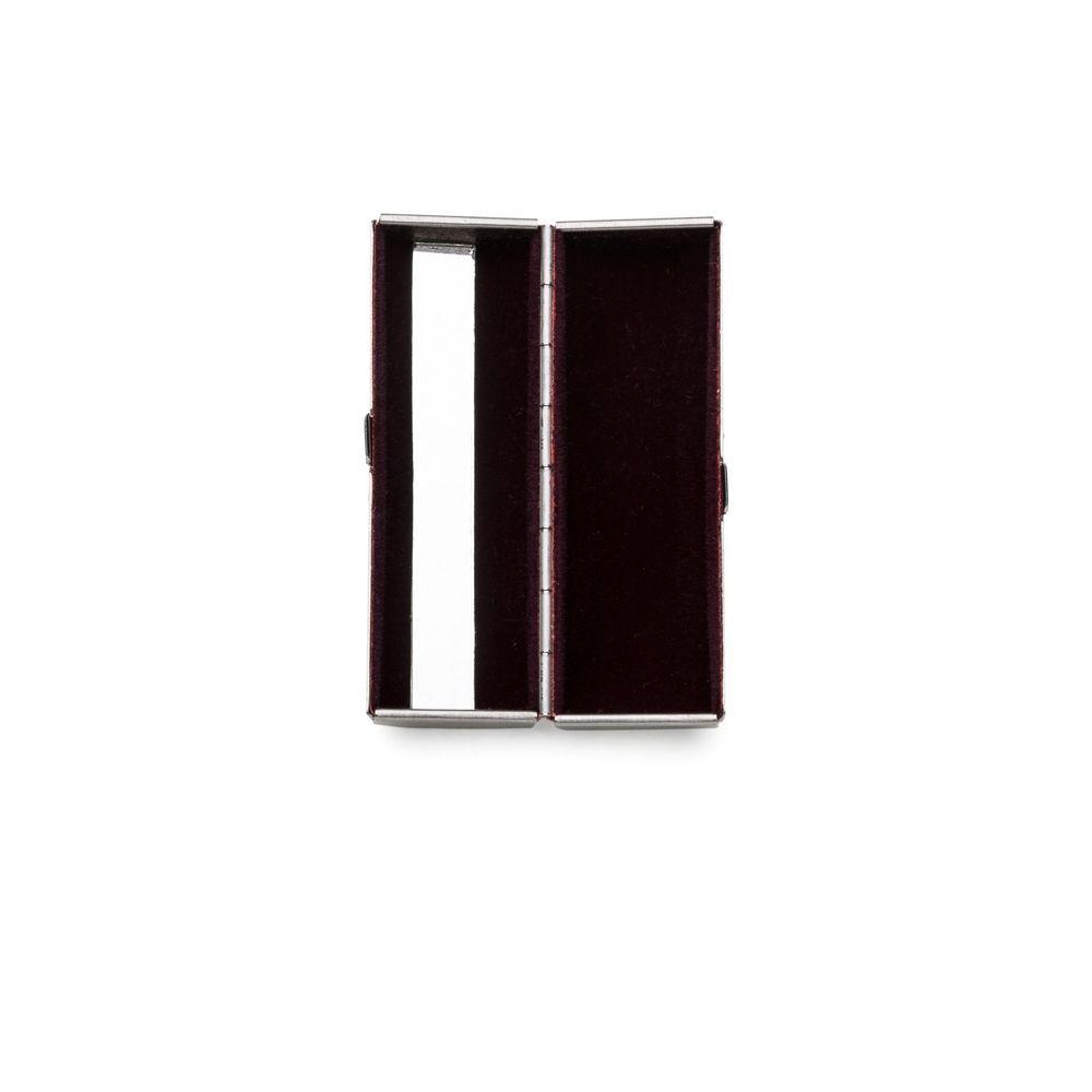 Porta Batom Metal com Espelho Personalizado