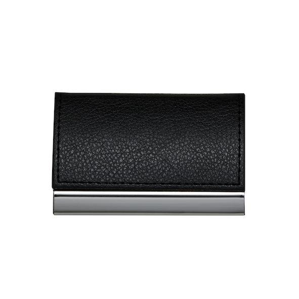 Porta Cartão de Couro e Metal Personalizado