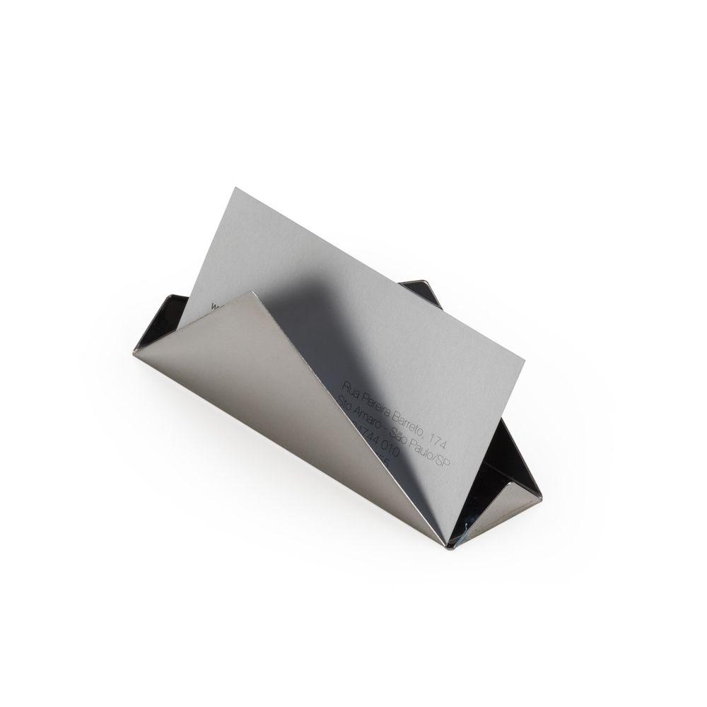 Porta Cartão de Mesa Inox Personalizado