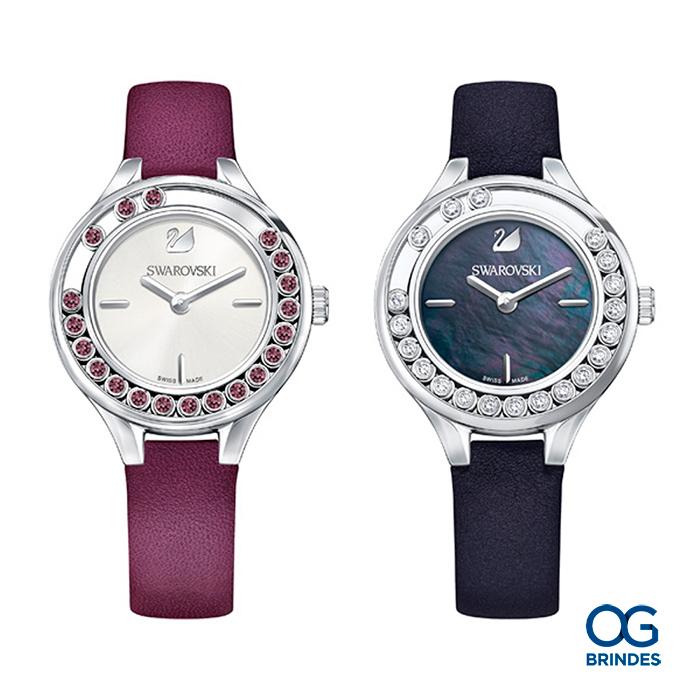 Relógio SWAROVSKI Couro Personalizado - 43034