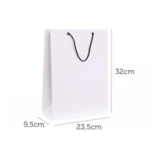 Sacola de Papel Branco Personalizada