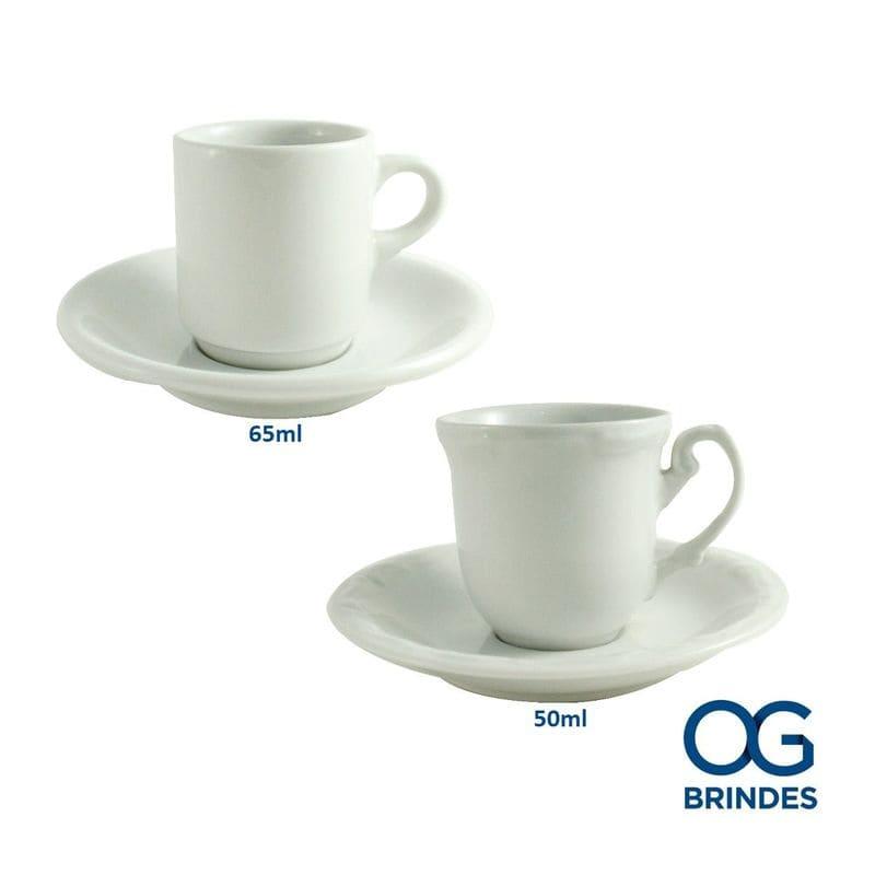 Xícara de café 65ml e 50ml Personalizada