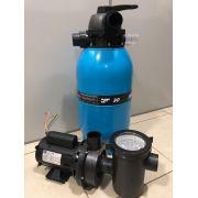 Kit Filtro Acf - 60 Piscinas E Spas + Motobomba 1 Cv
