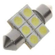 Lampada Torpedo Led 6000k 6 Leds 31mm