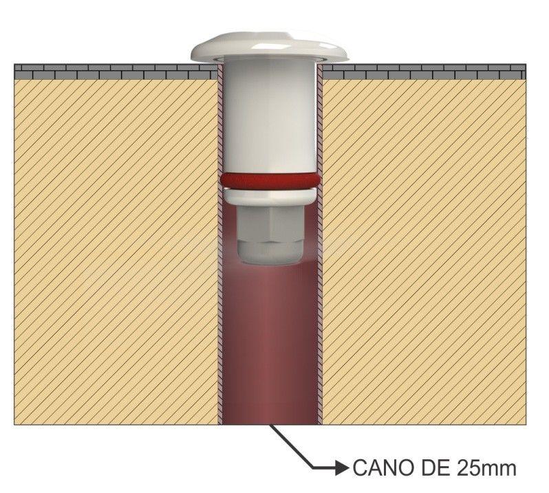 Balizador Alumínio Led 1,5w Branco 3000k - 12vcc