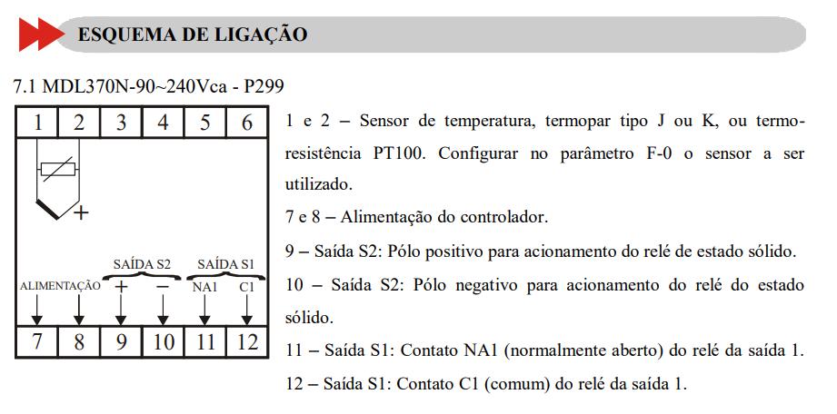 Controlador De Temperatura Mdl 370n P299 90-240v