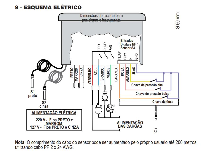 Controlador Temperatura Bombas Calor Mt 526 c 127~220vca