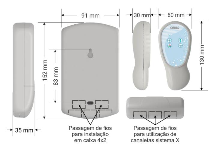 Kit Iluminação Piscina 2 Leds Rgb 6w + Central Touch