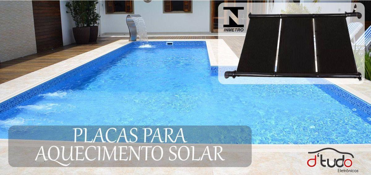 Kit Placa Coletor Solar Aquecimento De Piscinas 21 Metros²