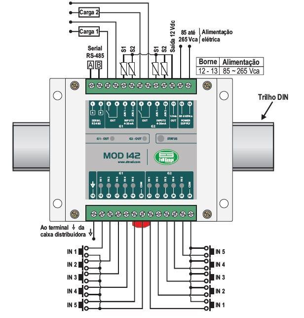 Modulo Expansor 14 Entradas 2 Saidas Mod142