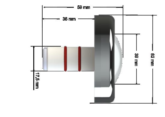 Power led RGB 6W Inox