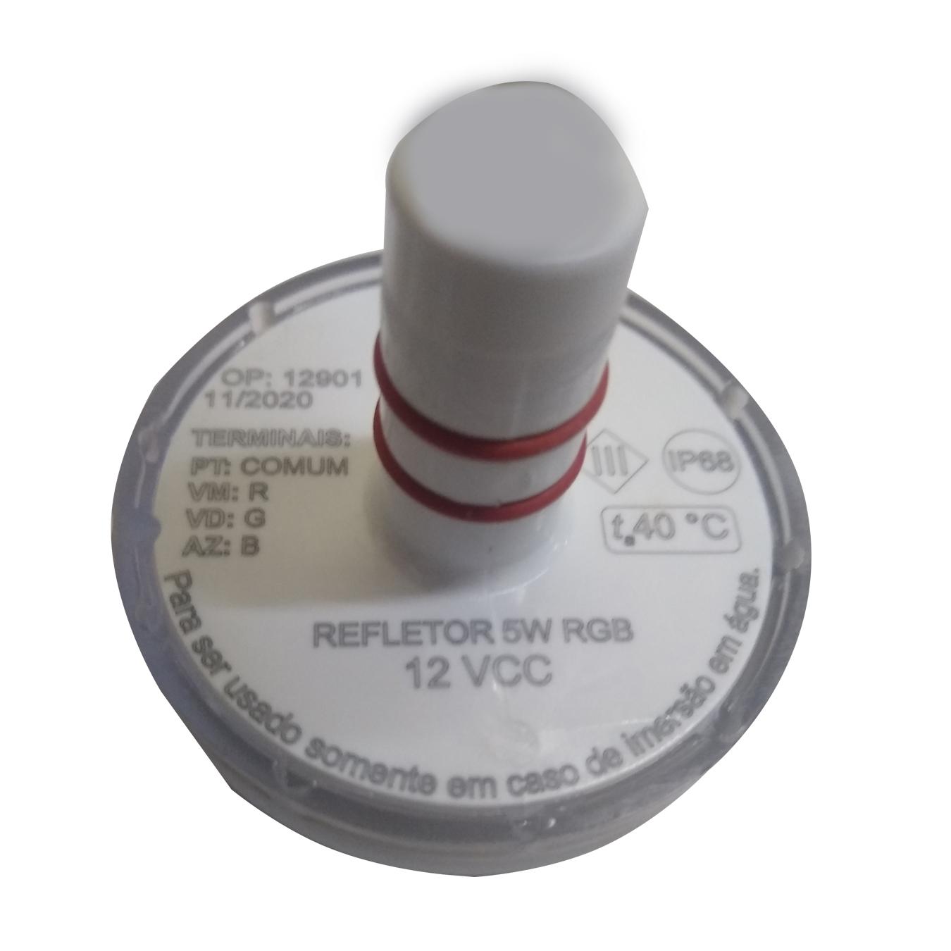 Refletor Iluminação Para Piscina Essential 5w Rgb 8m² Tholz