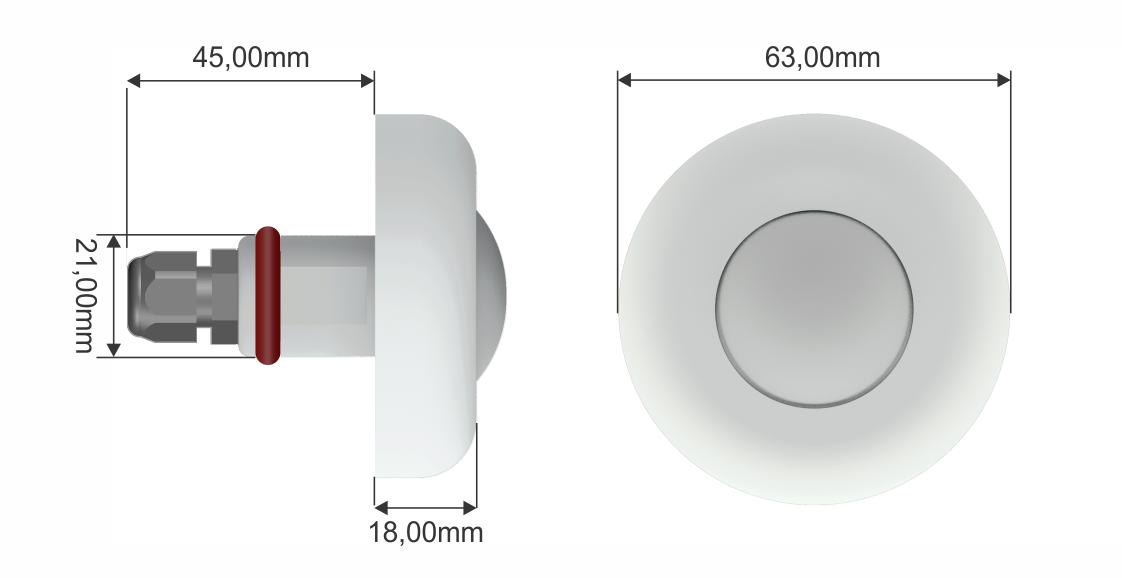 Refletor Power Led Azul - 3w