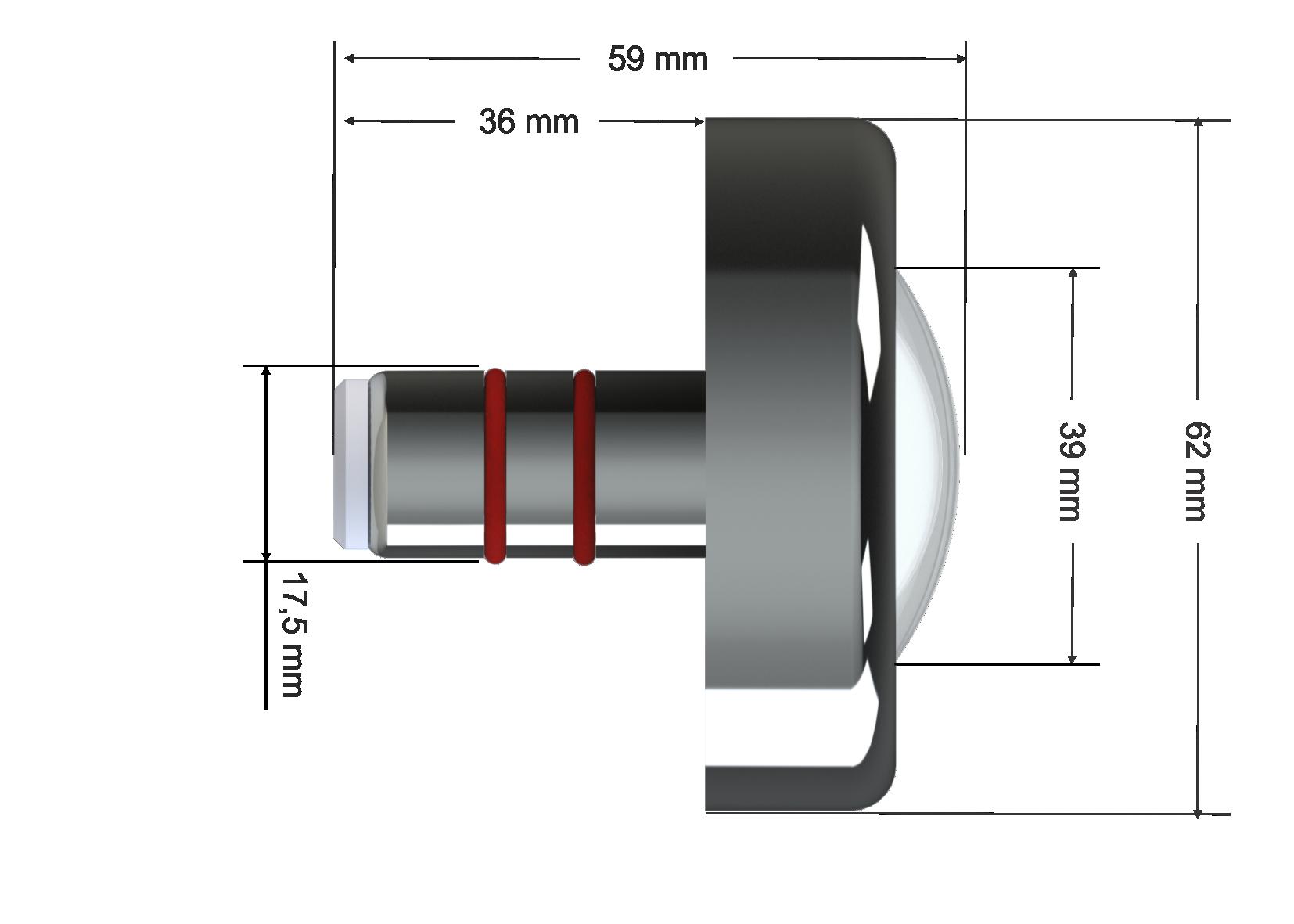 Refletor Power Led Branco 6000k - 9w INOX