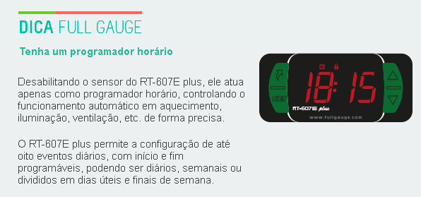 Termostato Com Agenda De Eventos Rt 607 E Plus