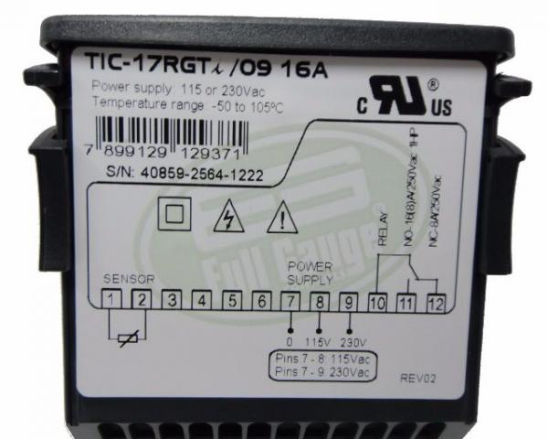 Termostato Tic 17 rgti Full Gauge Bivolt Digital