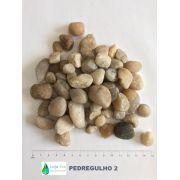 Pedregulho 2: Seixo Rolado: 1/2 a 3/4 - para Tratamento de Água - SACO 25KG