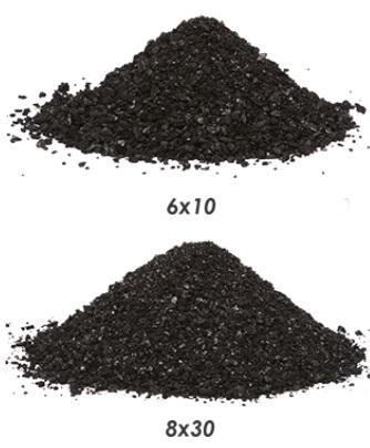 Filtro para remoção de cloro  e outros 700 a 1.300 litros/hora: leito + vaso  com válvula manual + tubo  central e crepinas