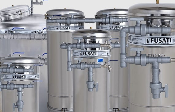Filtro de água Fusati:  Modelo Atlântico 1.000 a 1.500 litros/ hora (SEM CARGA FILTRANTE)