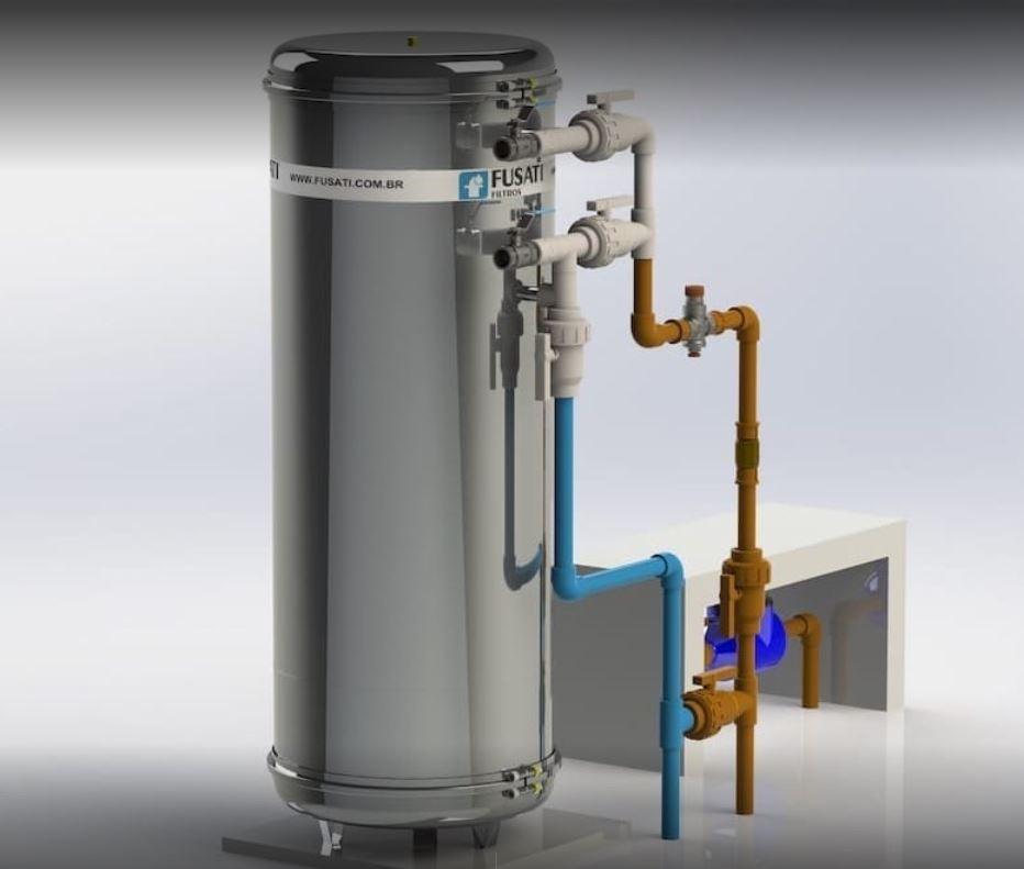 Filtro de água Fusati: Modelo Pacífico 1.000 a 2.000 litros/ hora (KIT COM CARGA FILTRANTE)
