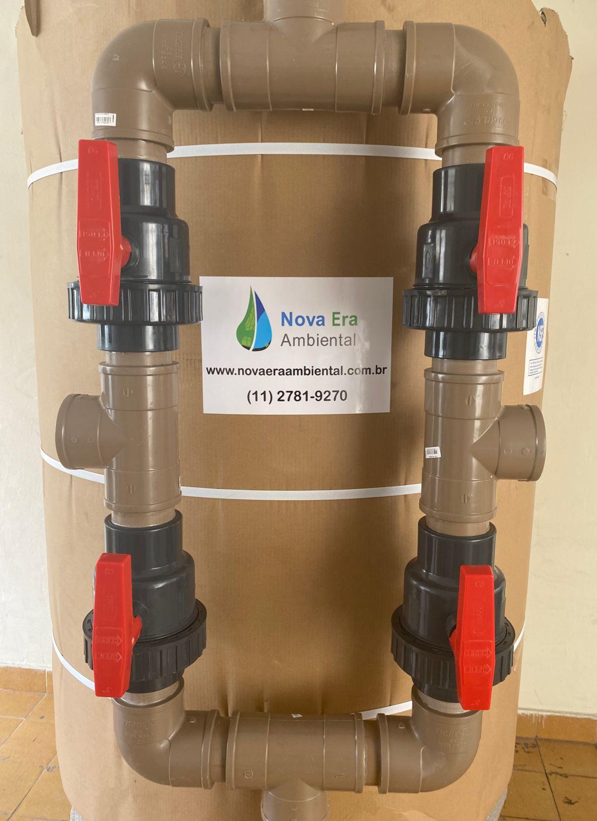 """FILTRO NEA108  de 22.000 a 30.000 litros/hora  ou  22 a 30m3/h - PADRAO 42X72"""" - incluso painel com registros  seletores, crepinas e tubo central"""