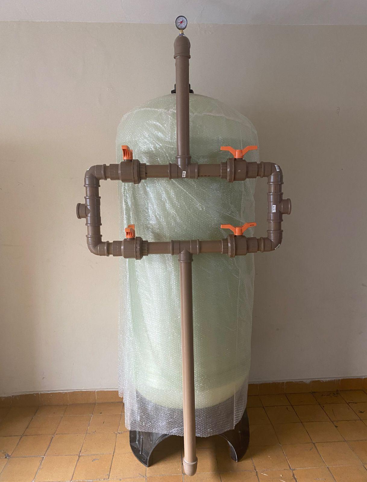 """FILTRO NEA76  de 11.000 a 17.000 litros/hora  ou  11 a 17m3/h - PADRAO 30X72"""" - incluso painel com registros  seletores, crepinas e tubo central"""