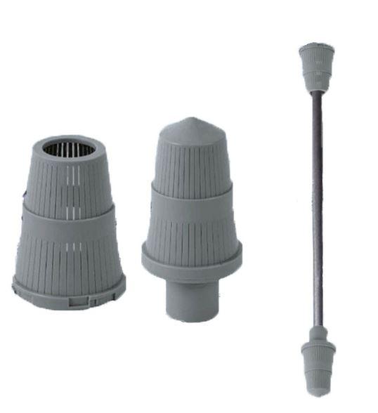 NEA34FT Filtro para remoção de turbidez: 1.200 a 2.300 litros/hora: kit (zeólitas, vaso, válvula manual, tubo central e crepinas)