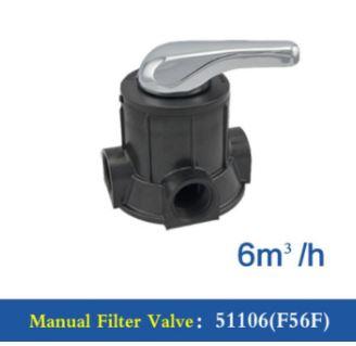VALVULA MANUAL PARA FILTRO F56F1:  até 6 m3/h ou 6.000 litros/h