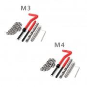 Combo 07 - Jogo Reparo Rosca Postiça Helicoil M3 M4