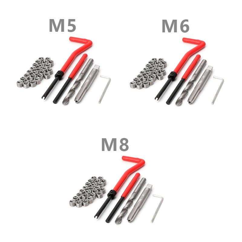 Combo 06 - Jogo Reparo Rosca Postiça Helicoil M5 M6 M8