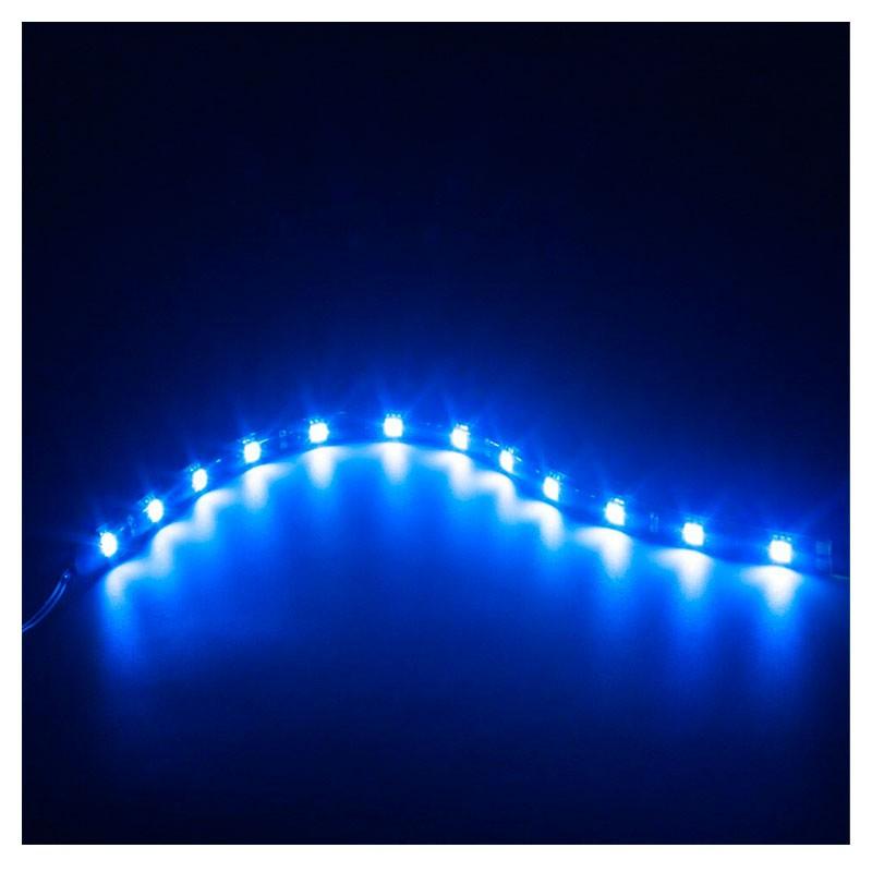 Fita Adesiva 12 Led Smd 5050 Flexível 30cm Azul