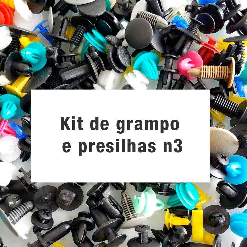 Kit de grampo e presilhas n3