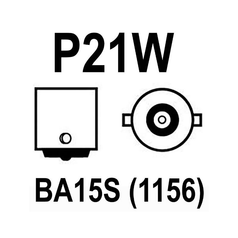 Lâmpada Freio Ré BA15S P21w 22 Led Smd 3014 Branco