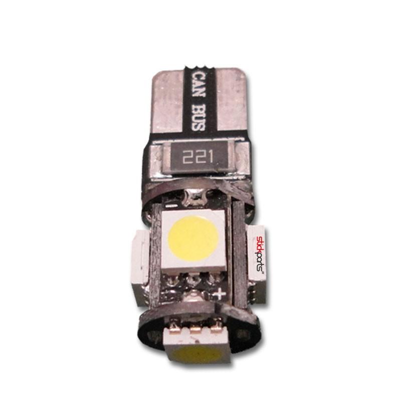 Lâmpada Pingo T10 W5w 5 Leds Smd 5050 Branco Canbus