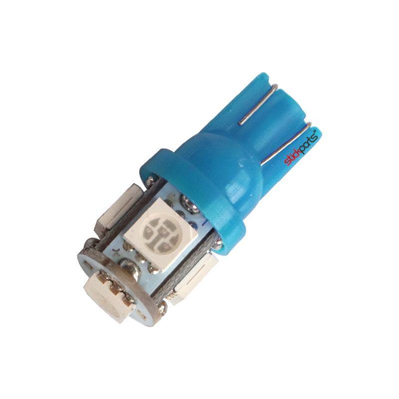 Lâmpada Pingo T10 W5w 5 Leds Smd 5050 Ice Blue