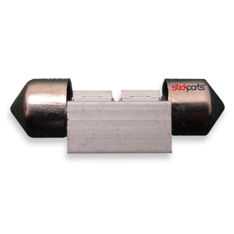 Lâmpada Torpedo 31mm 4 Leds Smd 5050 branco Canbus